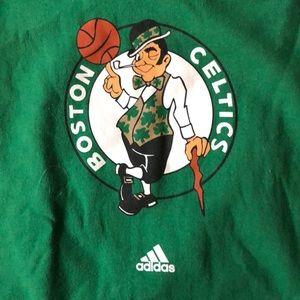 adidas Shirts - XL Adidas Boston Celtics green hoodie sweatshirt